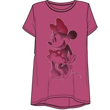 Disney Womens Fashion Top Hi Lo Touch O Minnie Mouse Pink