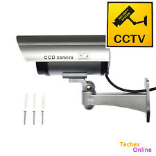 Fake Dummy CCTV Security Bullet Camera Flashing IR Record Light LED Surveillance