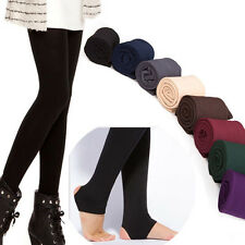 New Womens Warm Winter Thick Skinny Slim Footless Leggings Stretch Pencil Pants