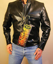 Vanson Model B, Black Comp. Weight Leather Jacket, IN STOCK