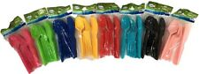 72pk Disposable Colored Plastic Cutlery Set Spoon Fork Knives Party 8 Colours