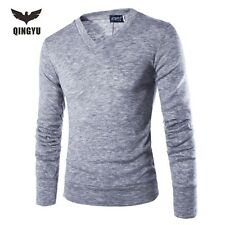 Pull Homme 2016V-Neck Sweaters Stylish Knitted Long Sleeve Men Sweater Male Soli