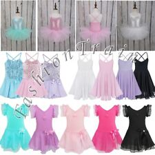 Girls Gymnastics Leotard Ballet Leotard Dance Tutu Skirt Dancewear Costume Dress