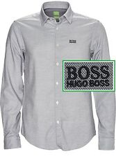 NWT Hugo Boss Green Label By Hugo Boss Modern Fit Textured Long-Sleeve Shirt