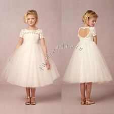 Girls Kids Communion Party Prom Princess Pageant Bridesmaid Wedding Flower Dress