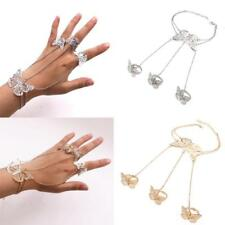 Fashion Novelty Butterfly Bracelet Harness Bracelet Slave Chain Link Finger Ring
