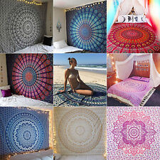 Indian Mandala Tapestry Boho Wall Hanging Decor Twin Bedspread Blanket Throw Mat