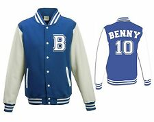 Personalised varsity jacket custom design - adult unisex and kids sizes