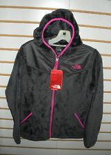 THE NORTH FACE GIRLS OSO HOODIE FLEECE JACKET-# APZE -XL -G GREY/PINK -NEW