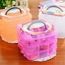 Plastic Hand Carry Jewlery Holder Storage Box Organizer Cosmetic Case Boxes Y