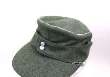 WWII German Officer M43 WH EM field  Panzer Wool Cap Hat Green