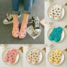Cartoon Cute Cat Face Women Socks Invisible Thin  Cotton Shallow Mouth Tube