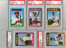 2015 1975 Topps MINI 10 Card Set Six PSA 10 Harper Trout Kershaw Bryant Complete
