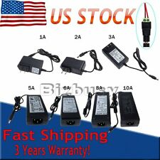 US DC 12V 1A/2A/6A/8A/10A Power Supply Adapter Charger 5050 3528 LED Strip Light