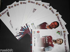2013/14 WEST HAM HOME PROGRAMMES CHOOSE FROM