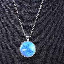 Women Men Shiny Wolf Glass Charm Pendant Necklace jewelry