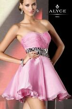 35507 CANDY PINK SHORT STRAPLESS ALYCE Prom Dress Pageant BallGown sz 14