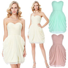 Sweetheart Short Chiffon Cocktail Evening Prom Party Homecoming Bridesmaid Dress