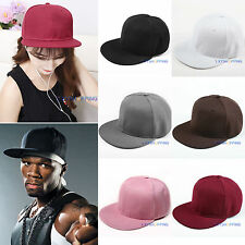 Womens Mens Baseball Cap Adjustable Hip Hop Sports Bboy Embroidered Snapback Hat