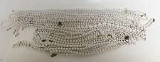 27 PC LOT White Faux Pearl Costume Jewelry Necklaces Wilma Flintstone Style