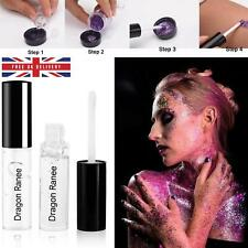 4ml GLITTER FIX GEL Glue for Glitter Powder to Face and Body Makeup Brush Tool