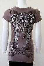 Sexy & Sinful Cross Love Hope Tattoo Wings Shirt True Religion Perfume Gift S L