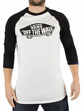 Vans Men's Off The Wall Logo Raglan T-Shirt, White