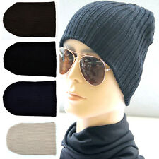 ALL Unisex Men Hip-Hop Warm Winter Wool Knit Ski Beanie Skull Slouchy Cap Hat