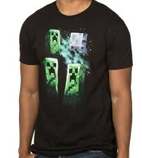 Jinx Official Licensed Minecraft Three Creeper Moon Men's Black T-Shirt XS NWT