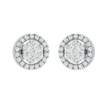 0.45 ct Round Cut D/VVS1 Solid Gold Solitaire Stud Earrings For Women's