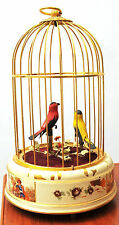 Working/VIDEO/ Vintage Wind Up Mechanical Singing Bird Cage Music Box Automation