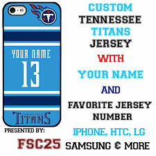 Custom TENNESSEE TITANS Phone Case Cover w Your Name & Jersey Number IPhone