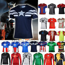 New S-4XL Superhero Marvel Comics Costume Mens T-Shirt Jersey Top Cosplay Shirt