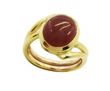 Red Onyx Gold Plated Ring L-1.5 presentable Red exporter AU K,M,O,Q
