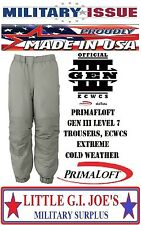 "NEW ECWCS GEN III Level 7 Primaloft Extreme Cold Weather Insulated Pants 31""-35"""