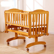 Rocking baby Crib Saplings Glider Lockable Cradle Baby Child Nursery Furniture