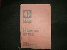 CAT 215 EXCAVATOR  MANUAL PWD BY 3304 ENG