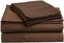 1200 Thread Count Egyptian Cotton 6 PC's Sheet Set Chocolate Solid