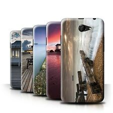 STUFF4 Phone Case/Back Cover for HTC Desire 516 /English Seaside