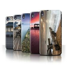 STUFF4 Phone Case/Back Cover for HTC Desire 816 /English Seaside