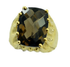 Smoky Quartz Gold Plated Ring wonderful. Brown suppiler AU K,M,O,Q