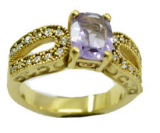 Amethyst CZ Gold Plated Ring desirable Purple supply AU K,M,O,Q