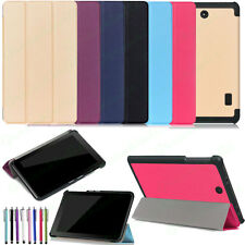 Tri-Fold Leather Tablet Protect Cover Case For Barnes Noble 2016 NOOK Tablet 7""