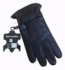MENS LEATHER GLOVES THINSULATE FULLY LINED SOFT WINTER WARM DRIVING REAL LEATHER