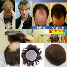 Top Hair Replacement Toupee Human Men Systems Lace Hairpiece Swiss System Piece