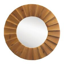 Rustic Wood Round Wall Mirror FREE SHIPPING