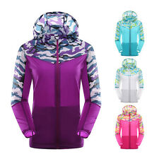 New Womens Quick Dry Anti-UV Camo Outdoor Jacket Cycling Travel Beach Sport Coat