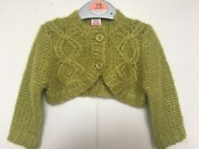 BNWT Adams Baby Chunky Knit Cardigan.  Kahki Green. Girls.  Age 3 - 18 Months
