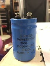 1 pcs of spraque Power Computer Grade Capacitors 16,000 uF 50V 36DX