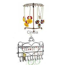Necklace Bracelet Earring Jewelry Display Organizer Holder Wall Hanger/Rotating